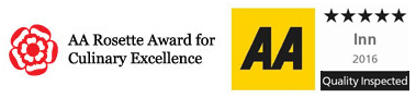 The AA, 5 star and Rosette Award for culinary Excellence
